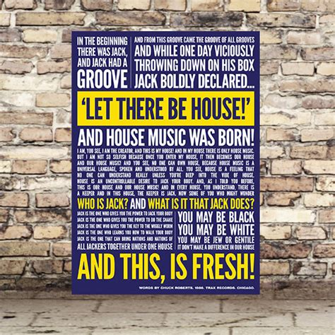 in the beginning there was house music items similar to house music print in the beginning there was jack typography on etsy
