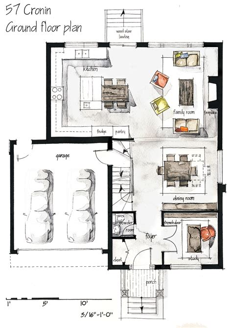 interior layout plan real estate watercolor 2d floor plans part 1 on behance