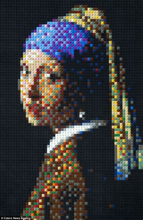 lego painting artist laven uses lego to recreate paintings
