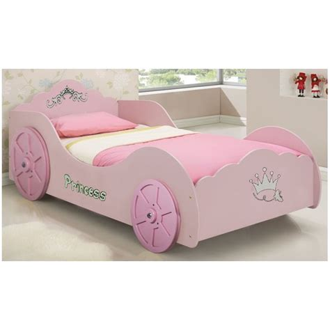 novelty bed princess car toddler kids novelty bed frame in pink buy