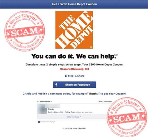 Home Depot Survey by Survey Scam 200 Home Depot 28 Images 200 Iphones Giveaway Page Is A Scam Image Gallery Home