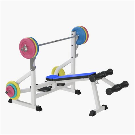modells weight bench 3d model weight lifting bench turbosquid 1201354