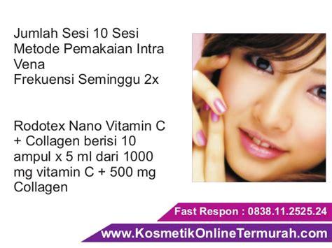 Vitamin C Collagen Rodotex Nano suntik putih vitamin c pemutih badan rodotex nano hijau