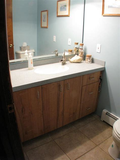 Laminate Bathroom Vanity Sandenwood