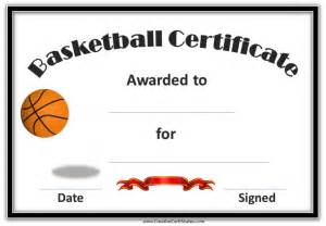 basketball award certificate templates free basketball certificate templates