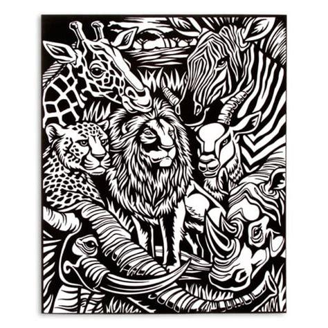 velvet coloring posters velvet coloring poster with markers jungle pets 16 quot x 20 quot