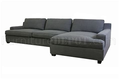 grey fabric modern sectional sofa w removable pillows