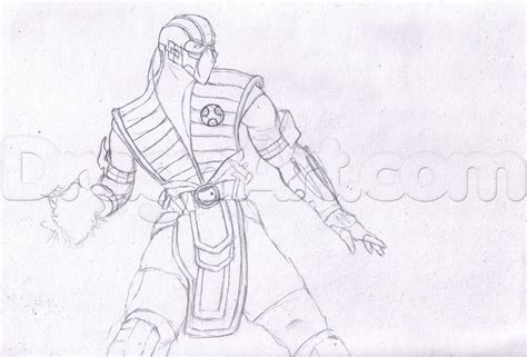 how to draw scorpion from mortal kombat x easy things to draw sub zero from mortal kombat x step by step drawing