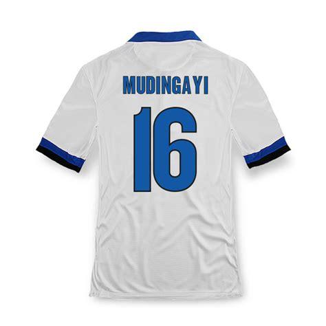 Jersey Inter Milan 2005 Away 13 14 inter milan 16 mudingayi away white soccer jersey