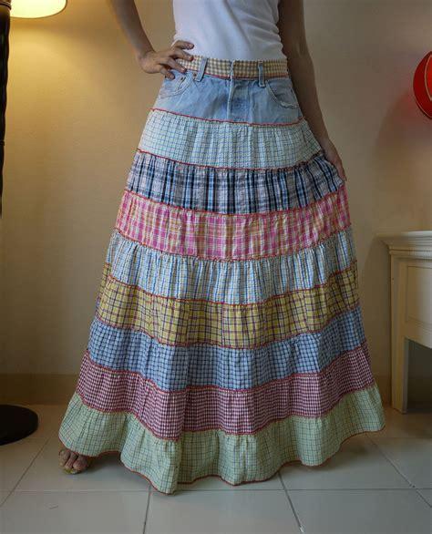 como hacer una falda cana media idea para reciclar un pantalon y tiras de tela patrones