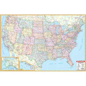 us wall map with interstates united state wall roller maps daycare furniture