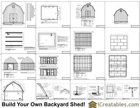 12x16 gambrel storage shed plans 16x24 shed materials list studio design gallery