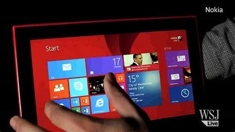 nokia velvet themes first hands on review of nokia s new 2520 tablet youtube