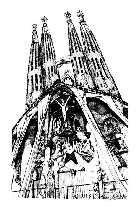 gaudi colouring gaudi barcelona 8499369855 180 best images about coloring pages to print cities on ems korea architecture