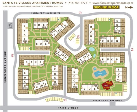 Apartment Layout Program property site plan santa fe village apartment homes far