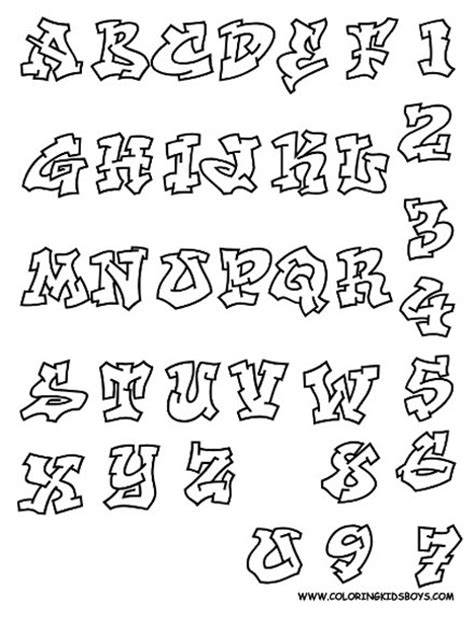 printable graffiti fonts the graffiti design