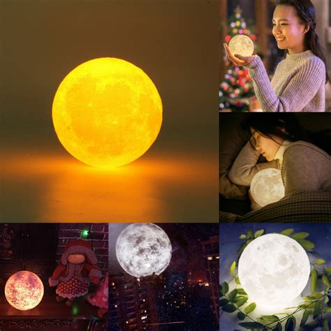 chagne color bedroom 3d color change usb touch switch led moon night light bedroom holiday gift alex nld