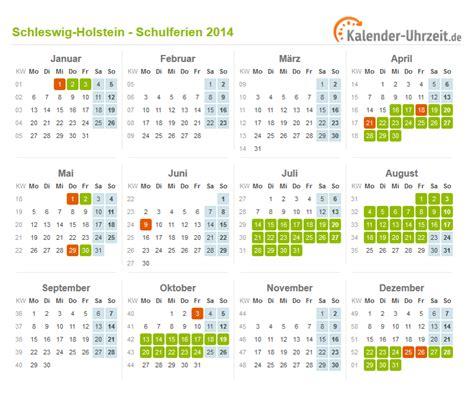 Kalender 2014 Feiertage Schulferien Schleswig Holstein 2014 Ferienkalender Zum