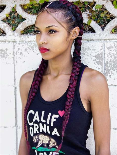 gold on top red on bottom box braids 30 badass boxer braids you need to try fashionisers