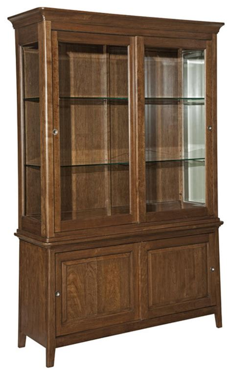 cherry park solid wood china cabinet traditional