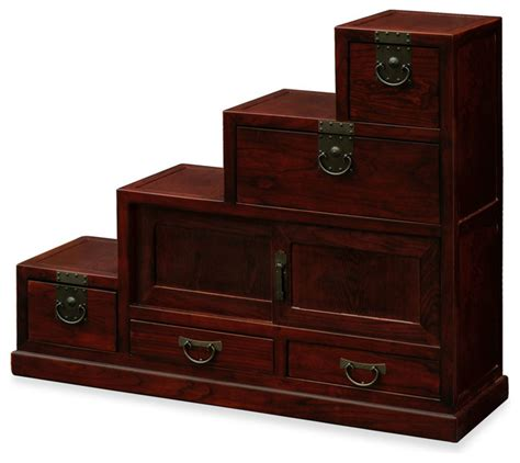 Step Cabinet by Elmwood Japanese Style Step Tansu Accent Chests