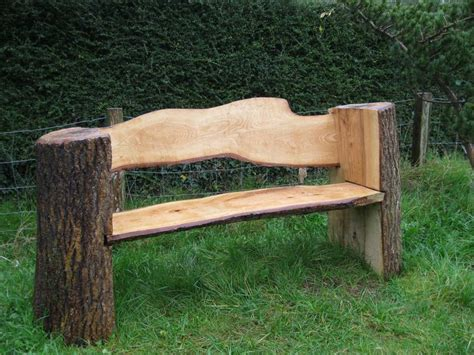 log bench chainsaw bench log cabins pinterest