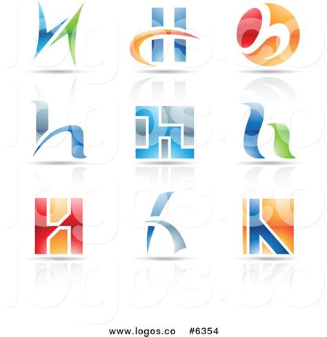 free logo design without registration royalty free clip art vector logos of colorful letter h
