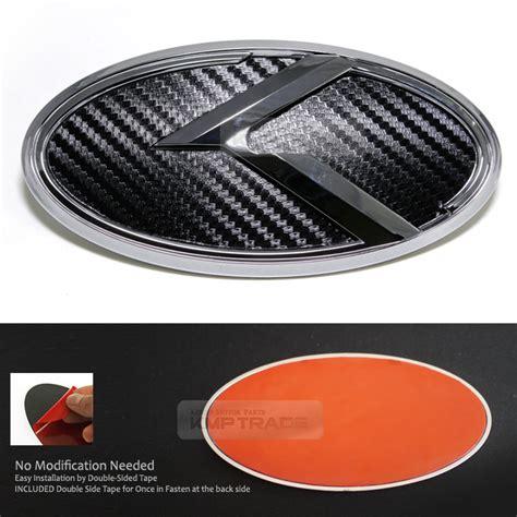 Kia Optima Emblem Replacement 3d K Logo Front Grille Rear Trunk Carbon Black Emblem For
