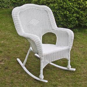 white wicker rocking chair international caravan chelsea wicker resin patio rocking