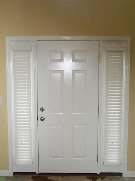 2 Quot Sidelight Wood Blinds Woods Window And Front Doors Blinds For Sidelights Front Door