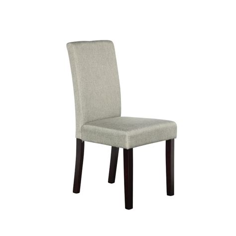 Fabric High Back Dining Chairs 2x High Back Fabric Linen Dining Chairs In Grey Buy Sets Of 2