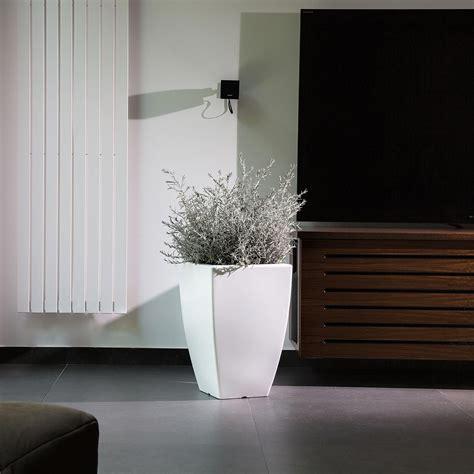 vaso resina bianco vaso resina h50 lucido bianco quadrato arredo moderno made