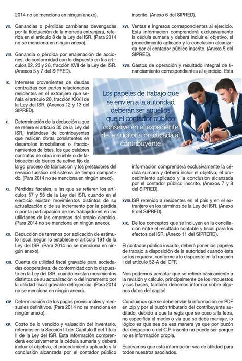 sipred 2016 sat papeles de trabajo de auditor 237 a 2014 su env 237 o al sat