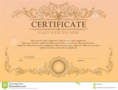 coupon certificate template certificate or coupon template stock vector image 53066848