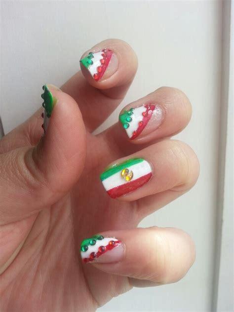 imagenes de unas decoradas tricolor u 241 as con la bandera mexicana my designs pinterest