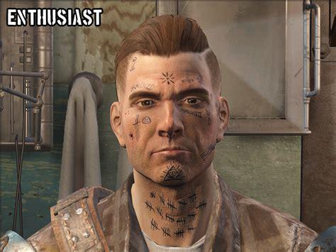neck tattoo fallout 4 wasteland scratchers shittier tattoos fallout 4 mod