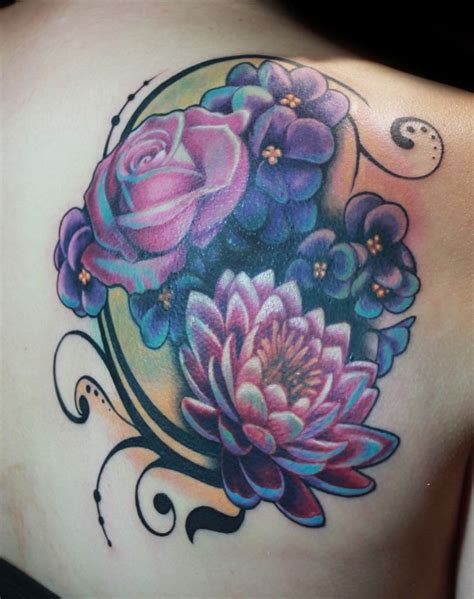 forever ink tattoo queens flower tattoo by ny nic at bltnyc tattoo shop queens