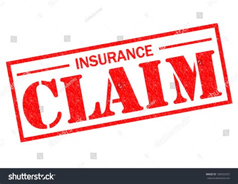 Insurance Claim Red Rubber Stamp Over Stock Illustration
