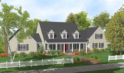 Cape Cod House Plans With Porch | cape cod home plan full front porch house ideas