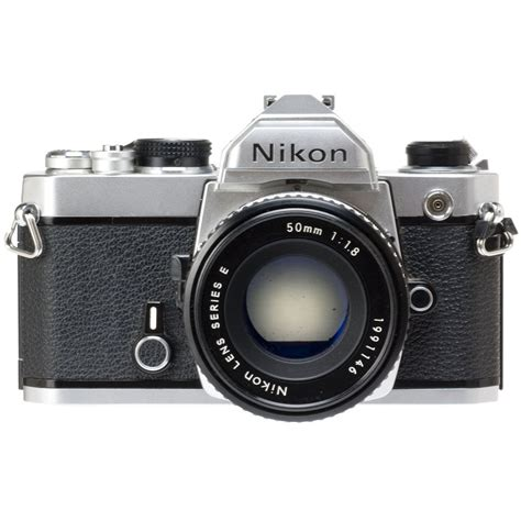 Rugged Cameras Used Nikon Fm 35mm Slr Manual Focus Camera Chrome With 50mm