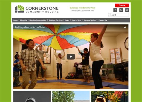 cornerstone community housing business organization government and informational website exles