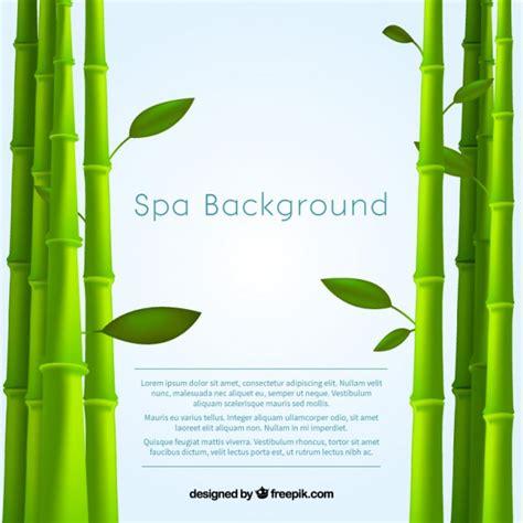 spa con fondo de spa con bamboo descargar vectores premium