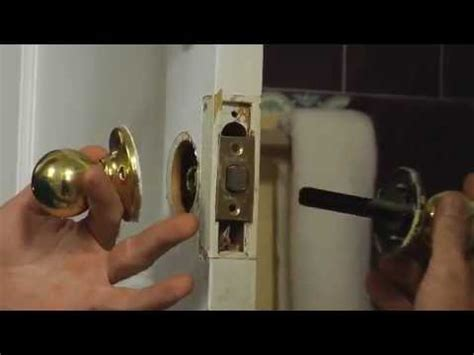 How To Replace Door Knobs by How To Install A Doorknob