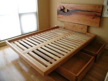 custom platform bed   edge headboard drawers
