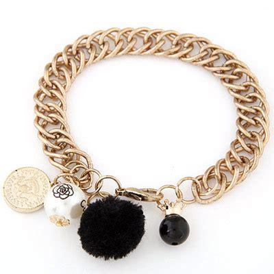 Anting Korea Pompom Pearl Earrings 3 korean bronze pearl decorated multi element design asujewelry