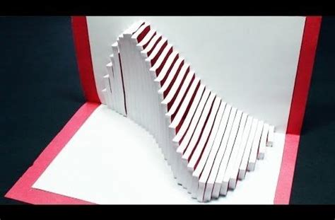 Spinning Kirigami Card Template by How To Make A Wave Pop Up Card Kirigami 3d Wave