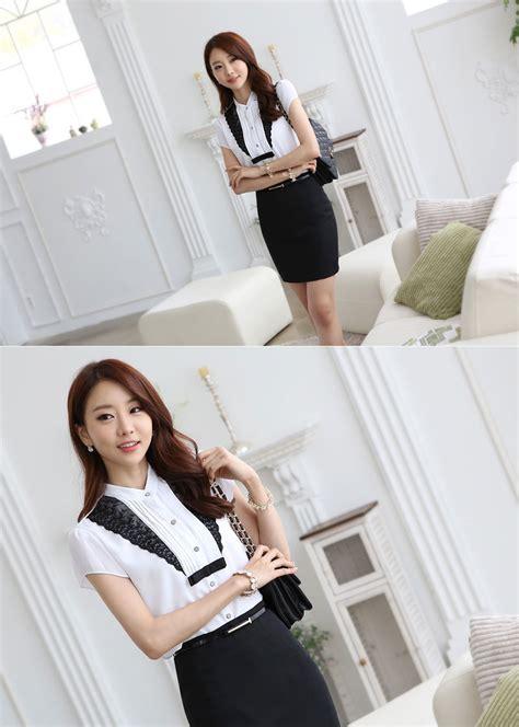 Baju Kerja Kemeja Blouse Wanita Korea Import Putih Biru White Pink kemeja putih wanita import modis model terbaru jual murah import kerja