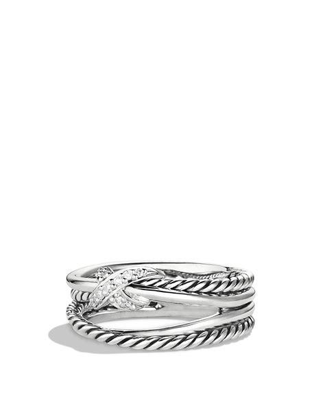 david yurman x crossover ring with diamonds bloomingdale s