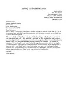Bank Teller Resume Cover Letter banking cover letter samples jianbochen com
