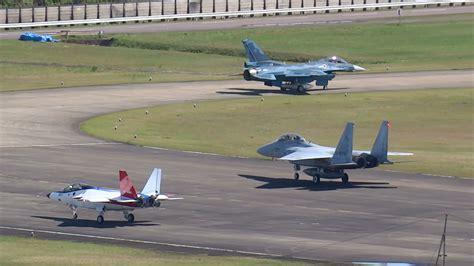X-2チェイス機F-2&F-15ランディング&タキシーバック 岐阜基地1st.160422 - YouTube X 2